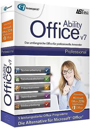 Avanquest Ability Office V7 Professional - Lizenz für 3 PCs: Amazon ...