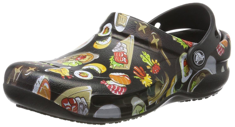 Crocs Bistro Graphic Clog, Zuecos Unisex Adulto 38/39 EU|Negro (Black/Tumbleweed)