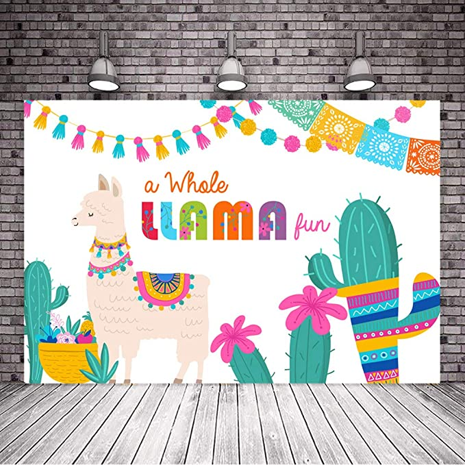 8x12 FT Llama Vinyl Photography Background Backdrops,Funny Sunglasses Wearing Farm Animal Cartoon Character South American Mascot Design Background for Photo Backdrop Studio Props Photo Backdrop Wall