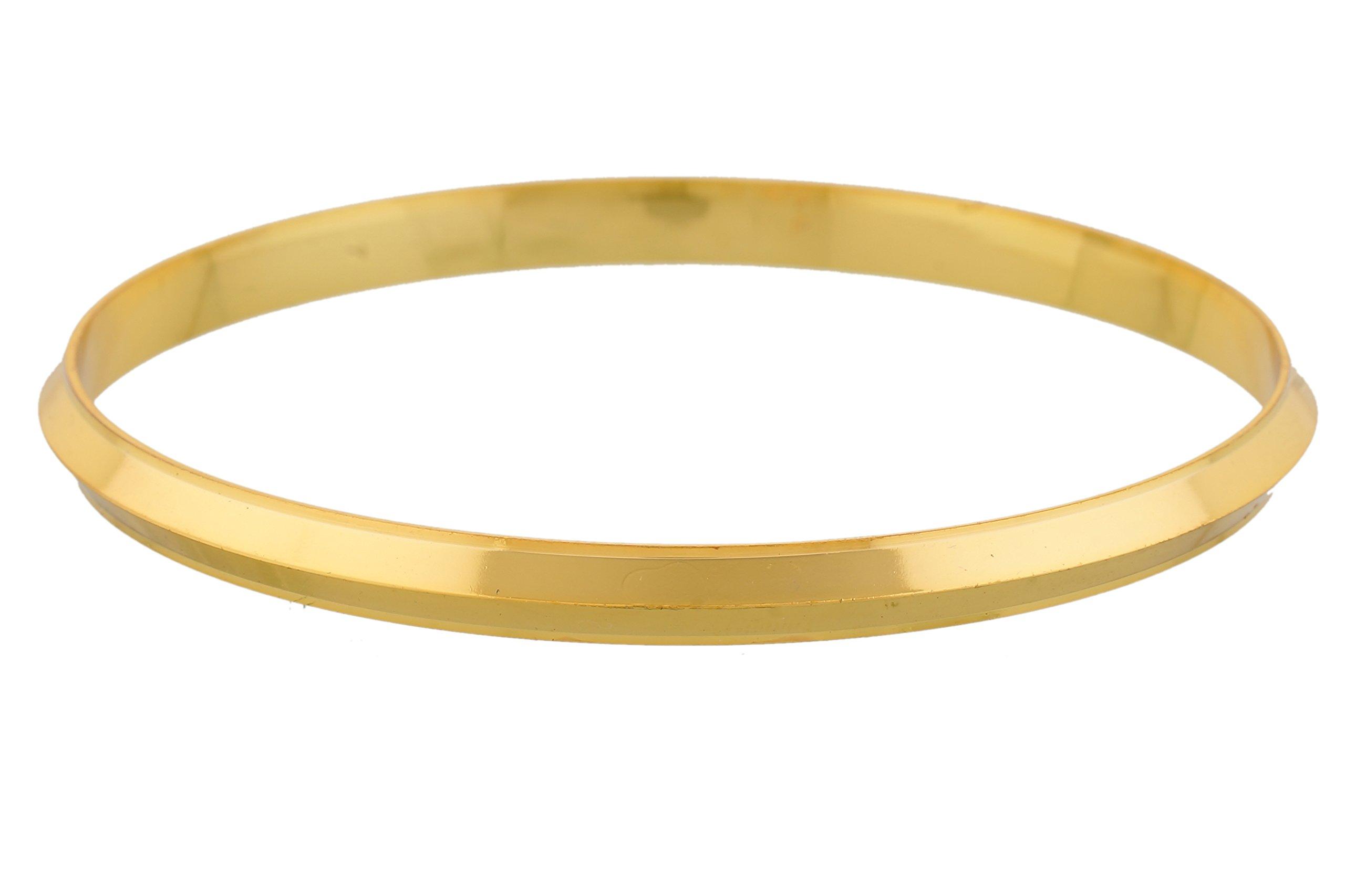 Jewbang Gold Plated Imitation Shining Bracelet Kada for Men-JB439DEAL12 product image