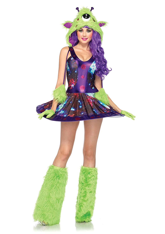 Leg Avenue 85150 - Miss Martian Monstruo extranjero vestuario, tamaño XS, verde