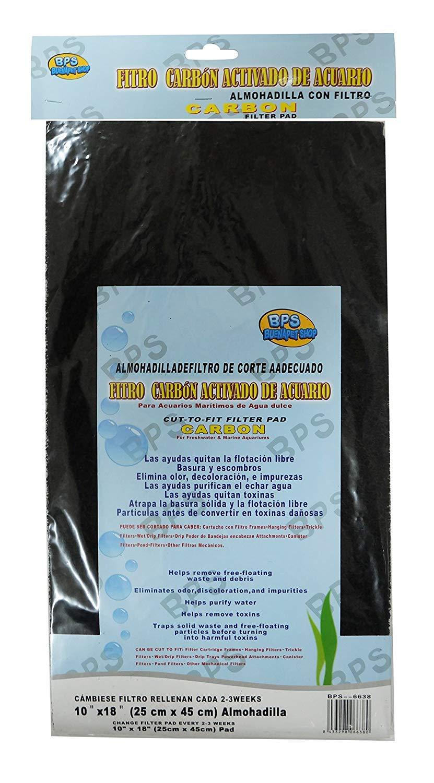 BPS Filtro Carbón Activo Acuario Material Filtrante para Acuarios Maritimos de Agua Dulce 25 * 45 cm (Filtro Carbón) BPS-6638: Amazon.es: Productos para ...