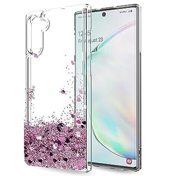 LeYi Funda Samsung Galaxy Note 10 Silicona Purpurina Carcasa con HD Protectores de Pantalla Transparente Cristal Bumper Telefono Gel TPU Fundas Case ...
