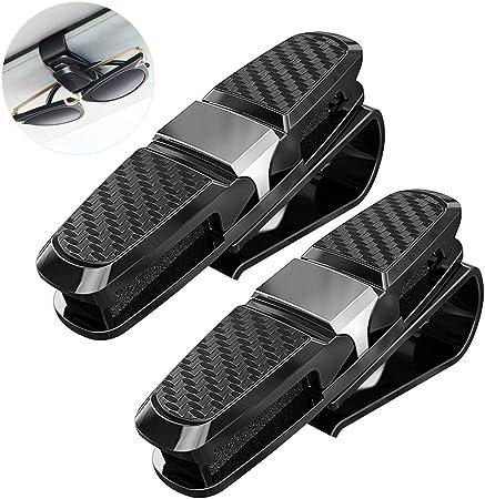 Brillenhalter Für Auto Sonnenblende Mehrweg Thinkcase 2 Pack Auto Brillenhalterung Sonnenbrillenhalterung Für Brille Schutzbrille Lesebrille Sonnenblende Clip Mit Karten Karten Clip Auto