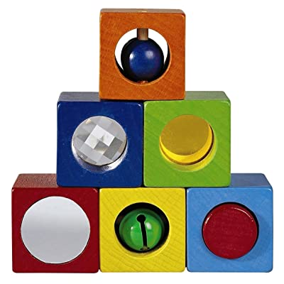 HABA Discovery Blocks - 6 Colorful Cubes with Unique Effects for Ages 1 and Up (Made in Germany): Toys & Games