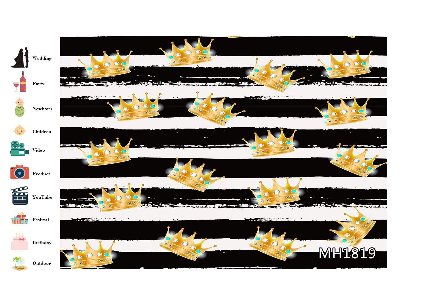 Vacanza Festa Decorazione,su Misura LB 210x150cm Vinile Festa di San Patrizio Fondale Linee Bianche Nere del Trifoglio Verde Fotografia Sfondo per Studio Fotografico