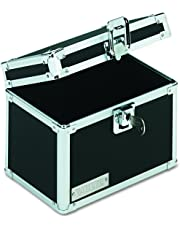 Vaultz Locking 4 x 6 Index Card Box, Black (VZ01171)