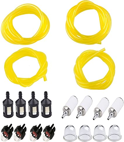 4 Sizes Tygon Fuel Filter Line Primer Bulb Kit Set For Poulan Weedeater Chainsaw