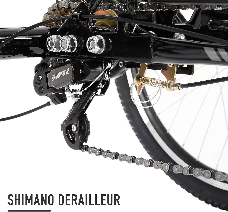 HIRAM 24 Triciclo per Adulti a 7 velocit/à con Manubrio e Sedile Regolabili Bicicletta da Montagna a Tre Ruote con Cestino Campana Luci per Uomini e Donne