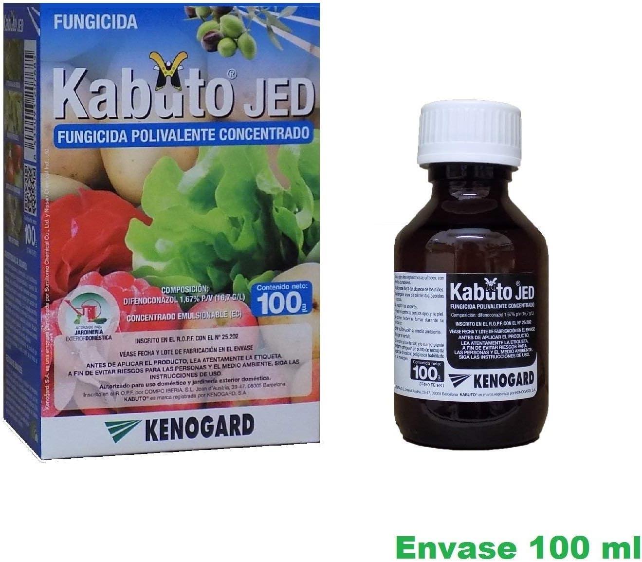 KENOGAARD Fungicida Concentrado polivalente Kabuto Jed 100ml Combate oidio, Roya, alternaria, Moteado y Otros