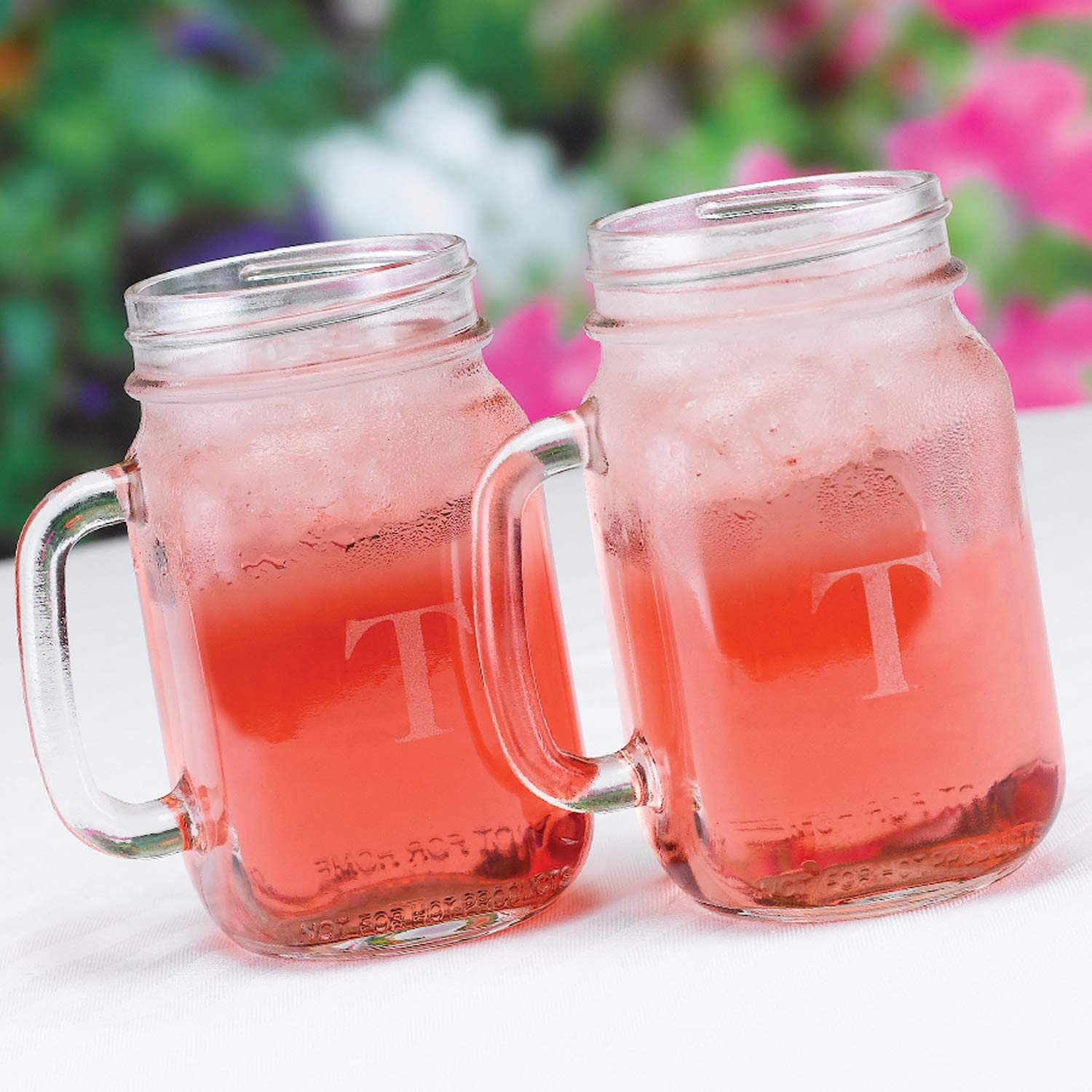 21Pk Personalized Drinking Jar-Toasting Flutes