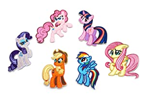 6 Packs Pony Iron-on Applique Patch