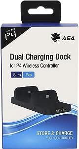Base Carregador Duplo Dock Charge P Controle Playstation Ps4 Dobe Preto