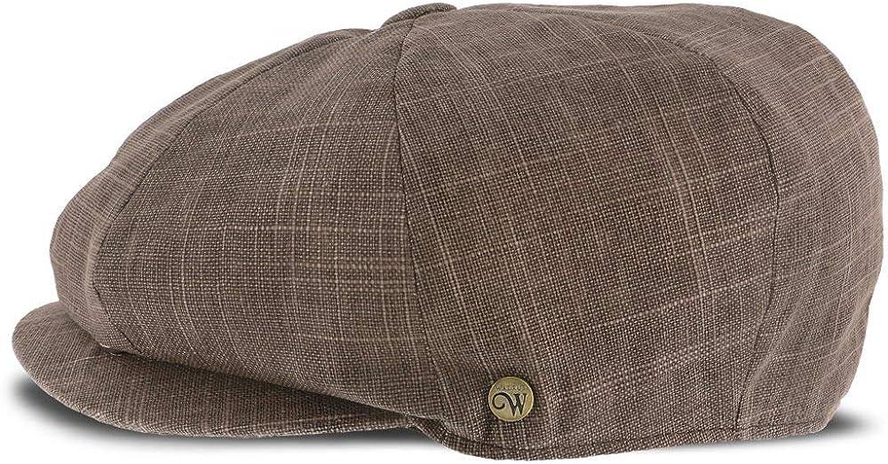 Walrus Hats Regal Linen//Cotton 8 Panel Newsboy Cap