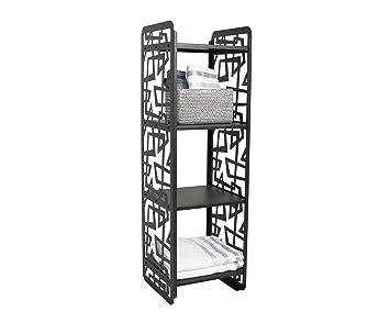 étagère de salle de bain Etagère Métallique avec 4 Tablette ...