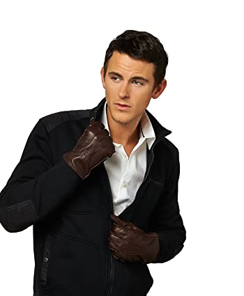 Men's Handsewn Cashmere Lined Leather Gloves