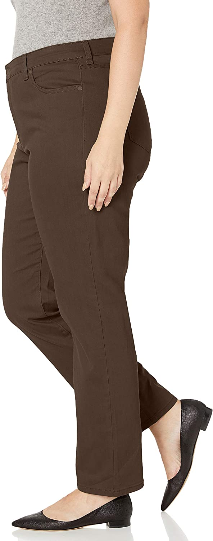 Bandolino Womens Petite Mandie Signature Fit High Rise Straight Leg Jean