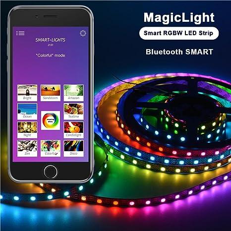 Kit Tira LED de Ordenador Bluetooth – Airgoo 3.28 pies Rainbow ...
