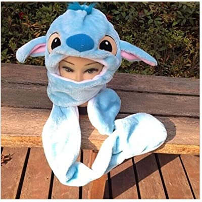 Lilo & Stitch Stitch Kids Hat with Long Paws Cartoon Plush hat Ships Form USA Blue: Clothing