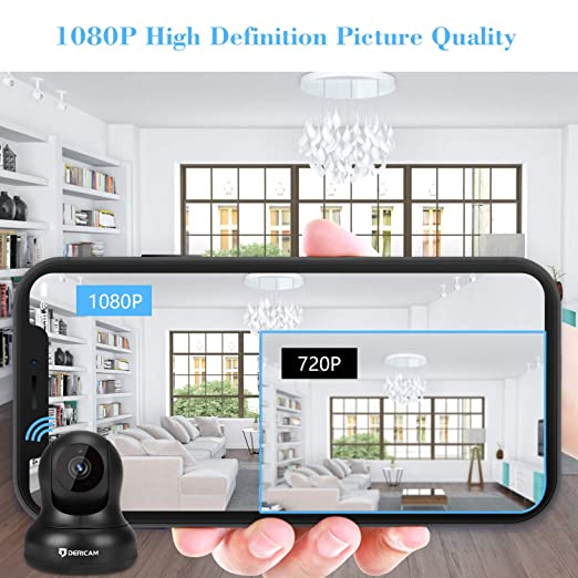 Amazon com: Dericam 1080P Home Security Camera, WiFi Camera