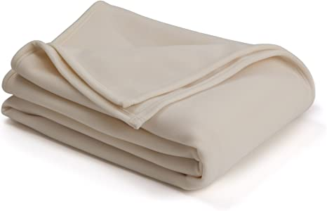 The Original Vellux King Plush Blanket in Ivory