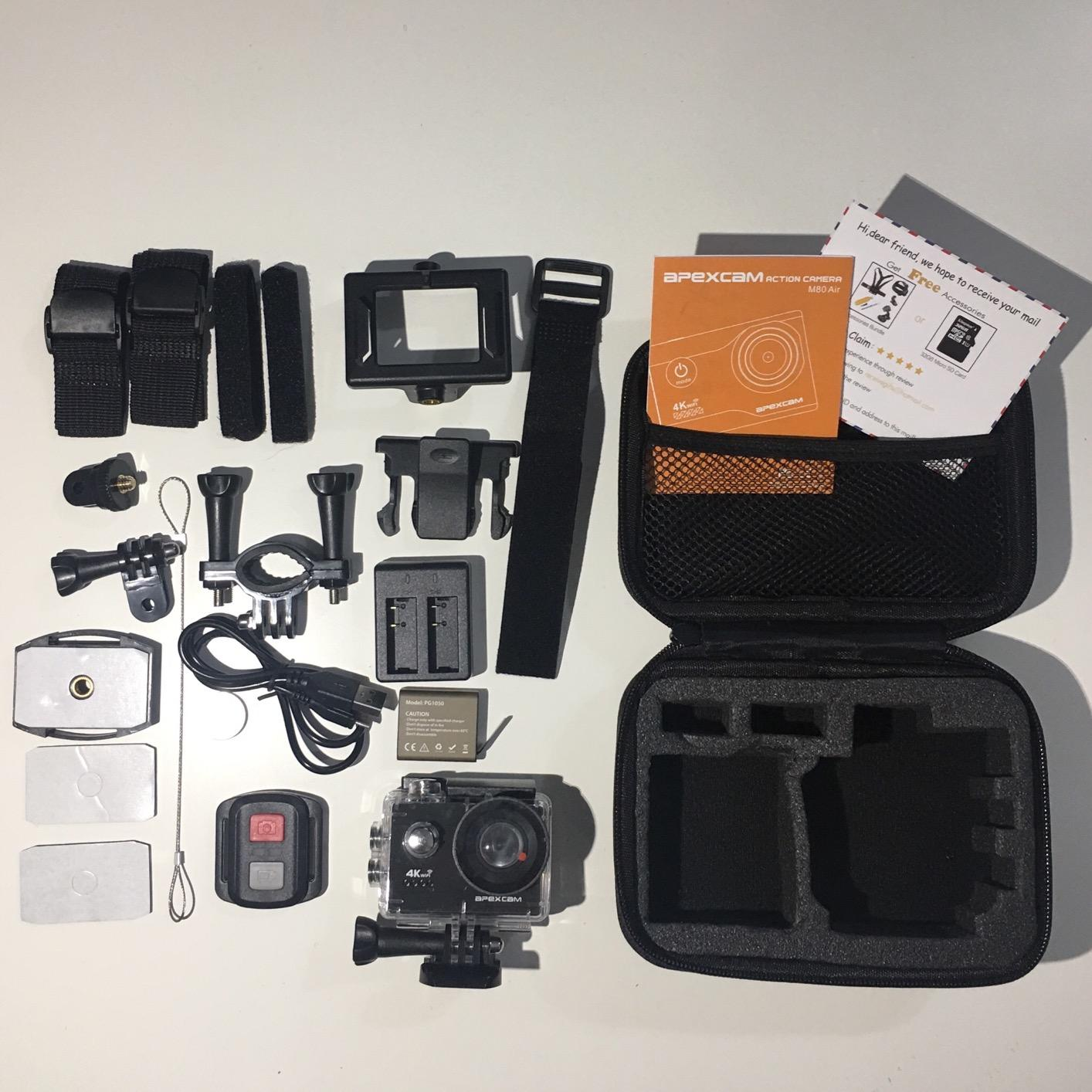 Apexcam 4K Action Camera 16MP Underwater Waterproof Camera