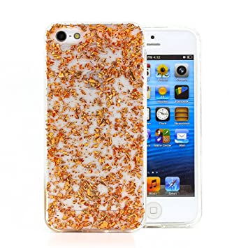 43473b7863e COOVY® Funda para Apple iPhone 5 / 5s / SE Carcasa Trasera, Muy Fina, de  Silicona TPU, en diseño Brillante   Color Oro Rosa: Amazon.es: Electrónica