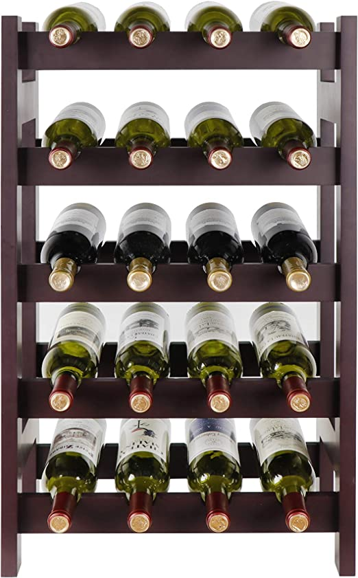 display stand for 5 bottles Wooden wine rack