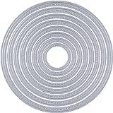 8 Pezzi Fustelle Stencil Cutting Dies per DIY Scrapbooking Album di Carta della Carta del Mestiere Biglietti per Goffratura Cerchio Fustelle