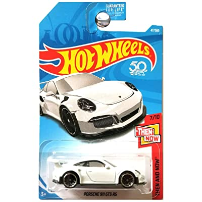 Hot Wheels 2020 50th Anniversary Then And Now Porsche 911 GT3 RS 47/365, White: Toys & Games