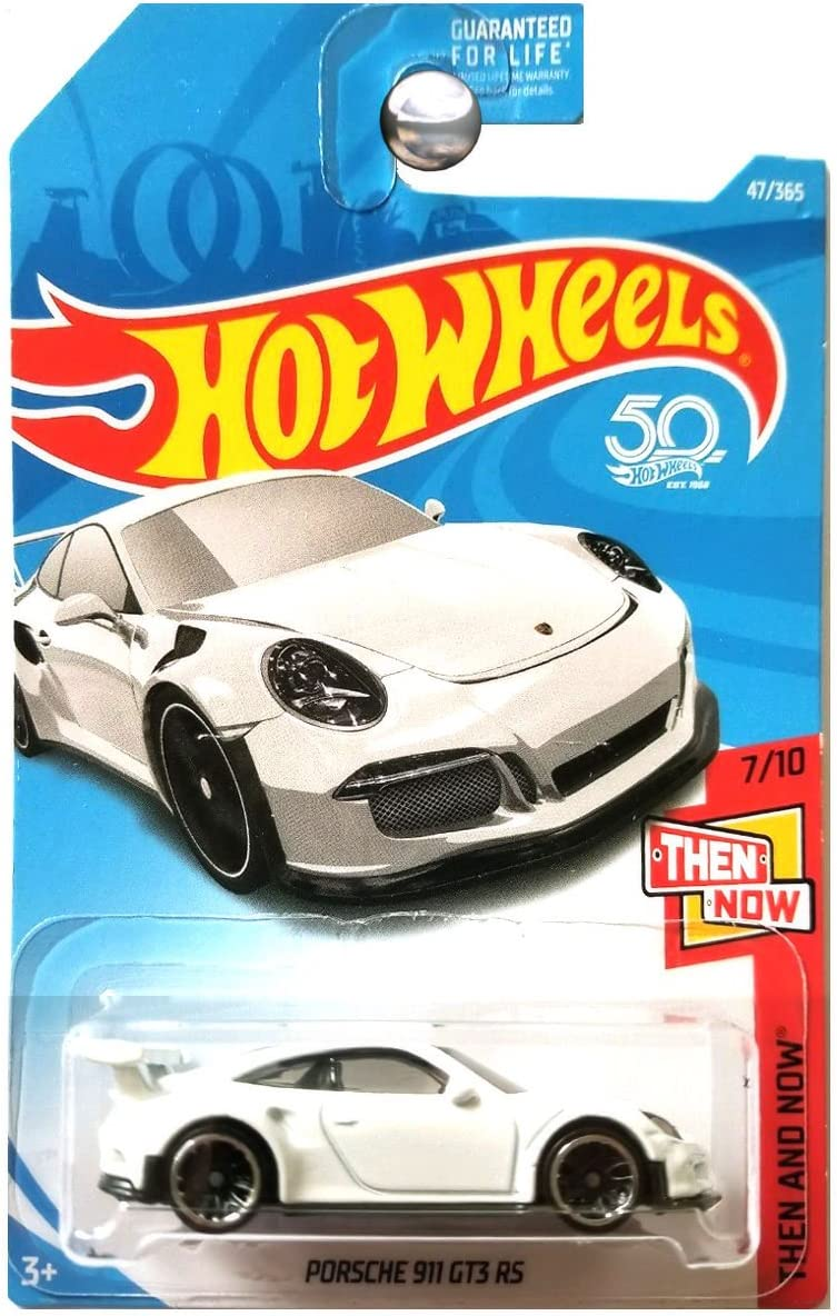 Amazon Com Hot Wheels 2018 50th Anniversary Then And Now Porsche 911 Gt3 Rs 47 365 White Toys Games