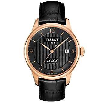 44153d792 Image Unavailable. Image not available for. Color: Tissot Men's  TIST0064083605700 Le Locle Analog Display Swiss Automatic Black Watch