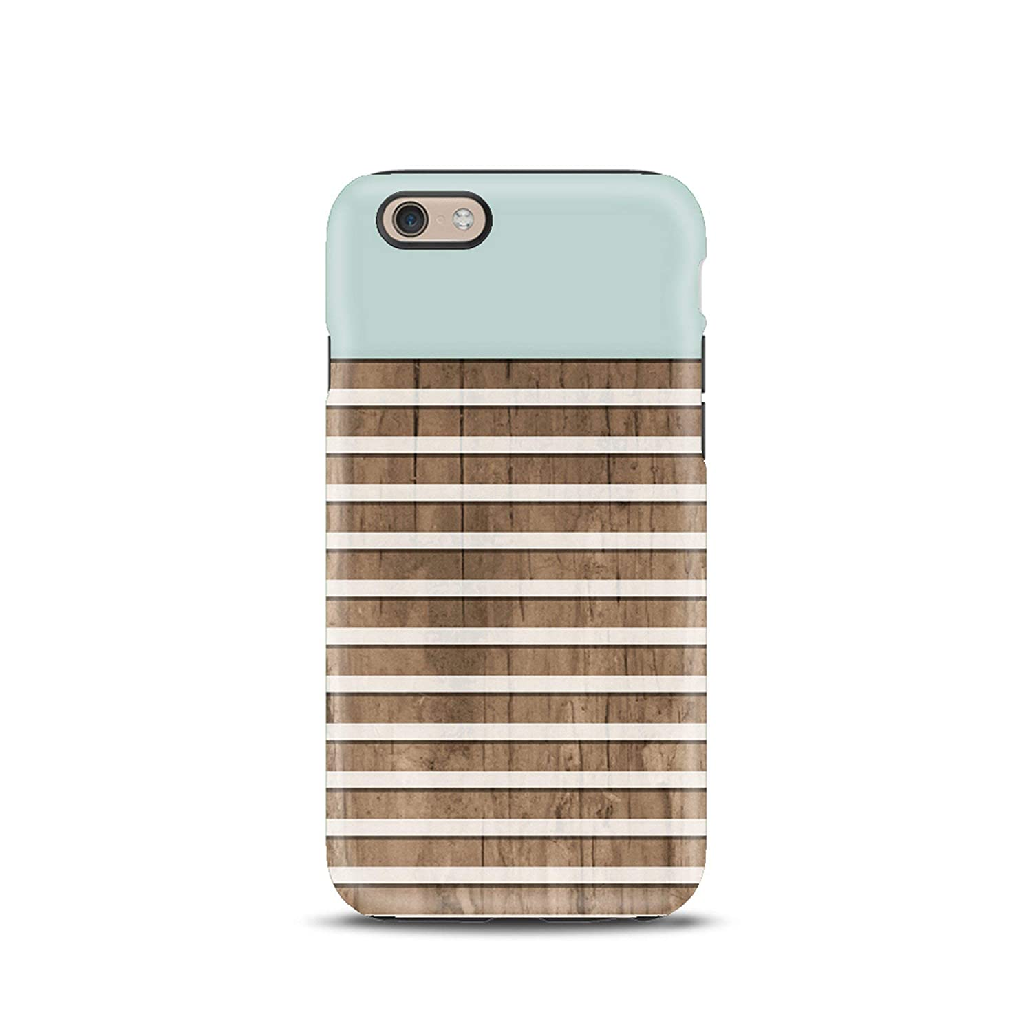 Celeste Righe Geometrico cover case custodia per iPhone 5, 5s, 6, 6s, 7, 7 plus, 8, 8 plus, X, XS, per Galaxy S6, S7, S8