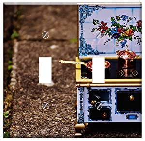 Switch Plate Double Toggle - Stove Oven Sheet Dolls Houses Dolls Furniture Heat 3