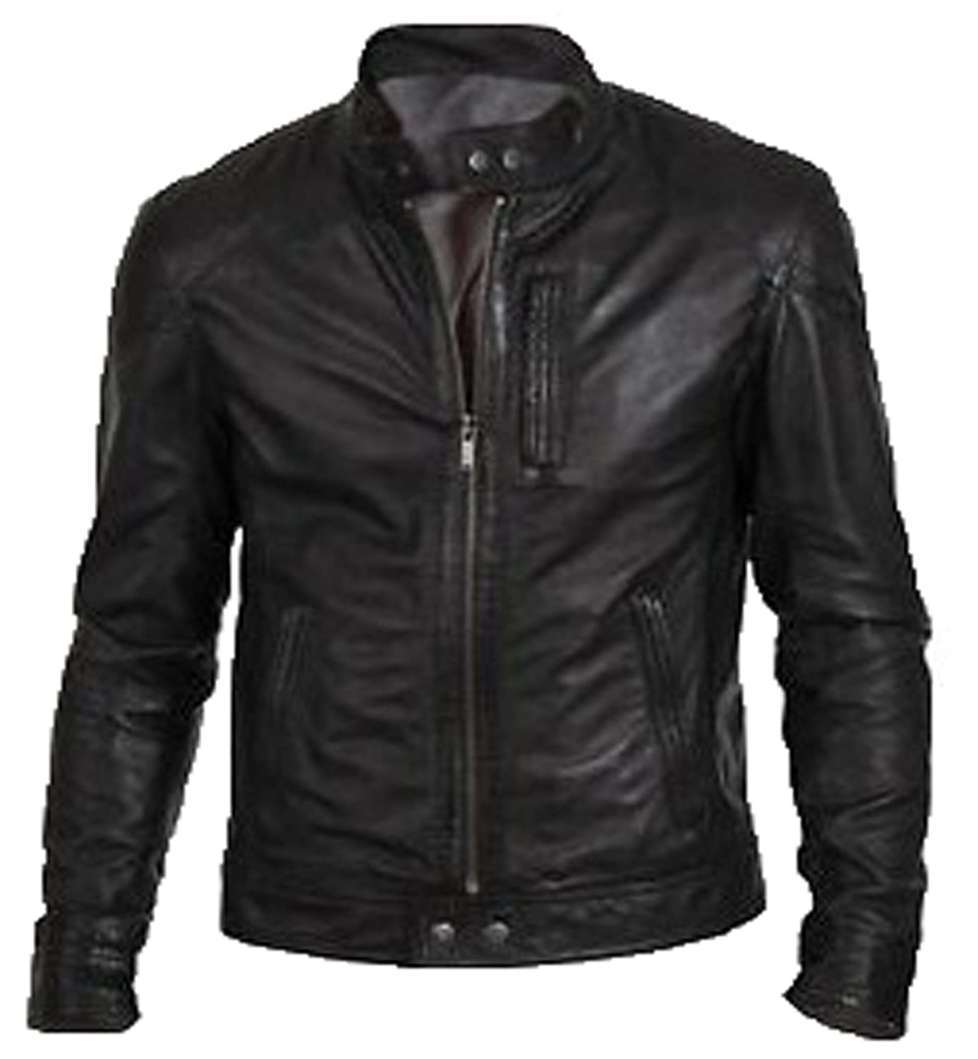 Bomber Rider Slim Fit Casual Stylish Black Real Leather Jacket