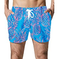 Goodstoworld Uomo Pantaloncini e Calzoncini da Bagno Hawaiana Pantaloncini da Spiaggia Mare Piscina