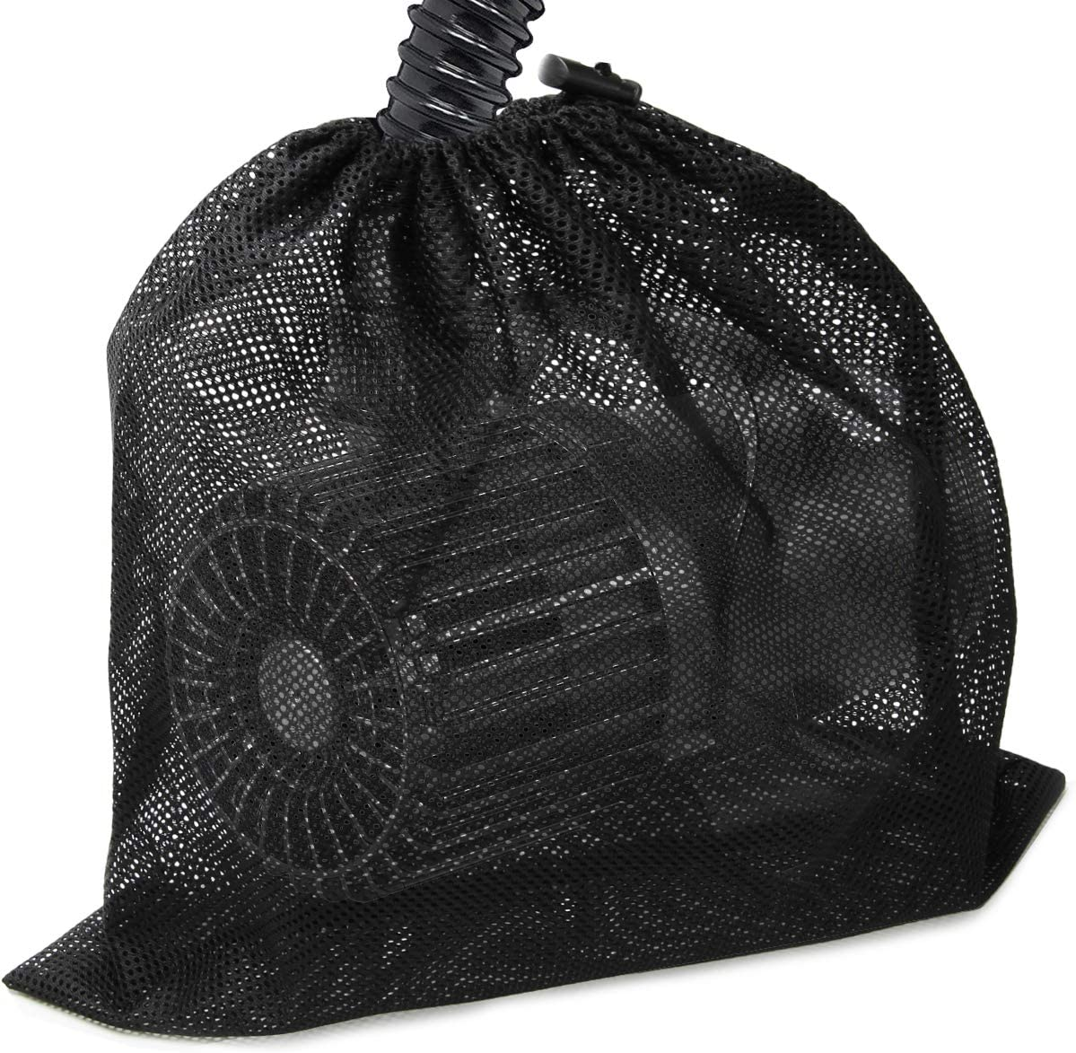 "Coolrunner Large Pump Barrier Bag, 17.3""x 17.3"" Pond Pump Filter Bag, Black Media Bag Large Pump Mesh Bag for Pond Biological Filters(Black)"