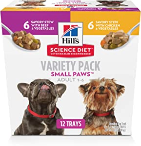 Hill's Science Diet Wet Dog Food, Adult, Small Paws for Small Breeds