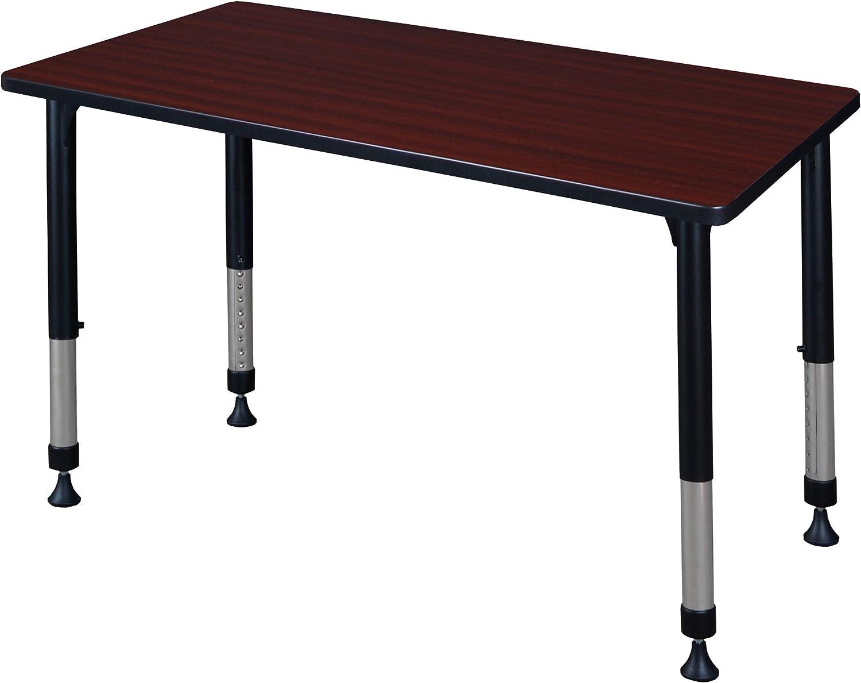 Amazon Com Kee 42 X 24 Height Adjustable Classroom Table Mahogany Furniture Decor