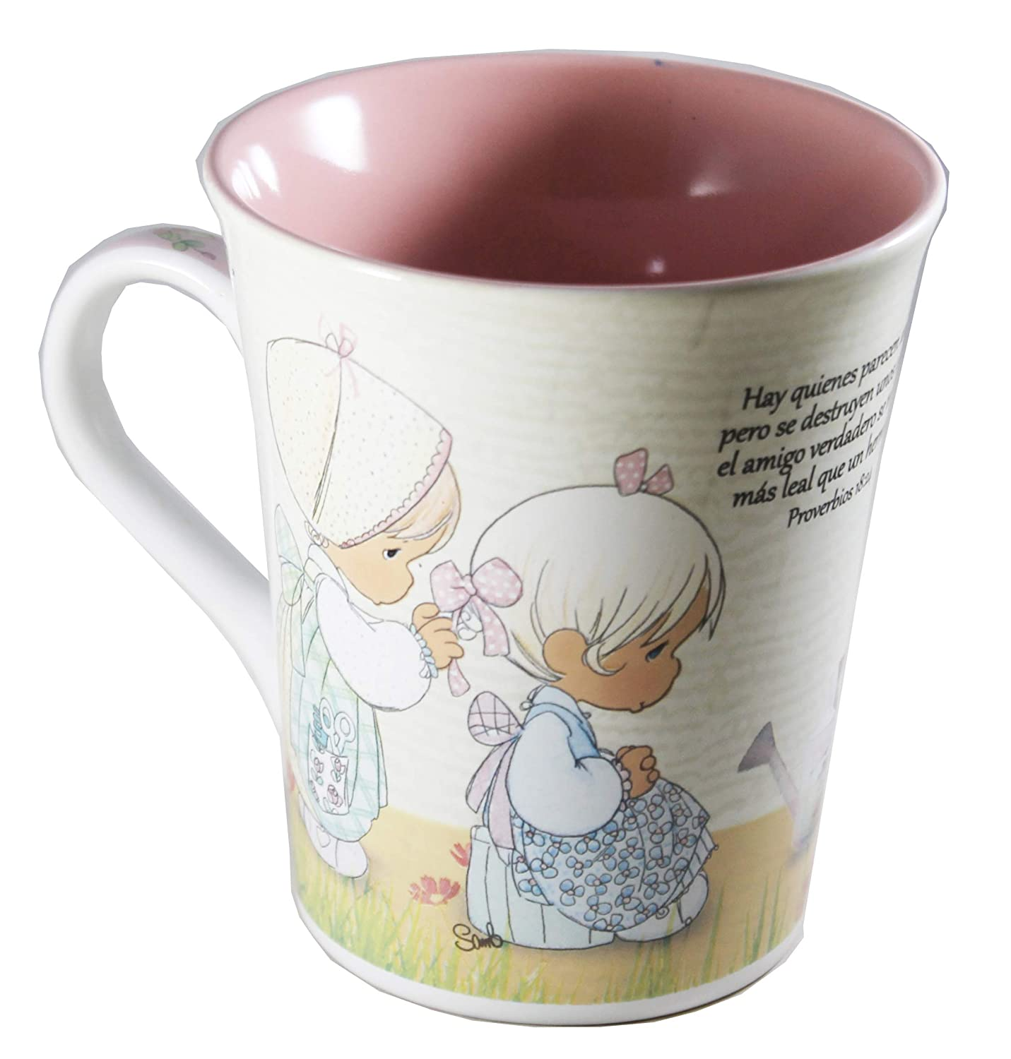 Amazon.com | Taza Precious Moments in Spanish - Amigas Por Siempre (Friends Forever): Cups, Mugs, & Saucers