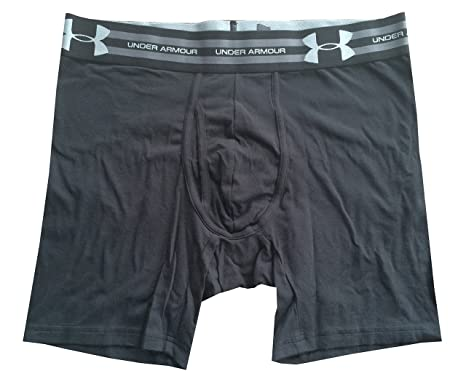 afec52e32189 Amazon.com: Mens Under Armour Charged Cotton 6'' Boxerjock, Black ...