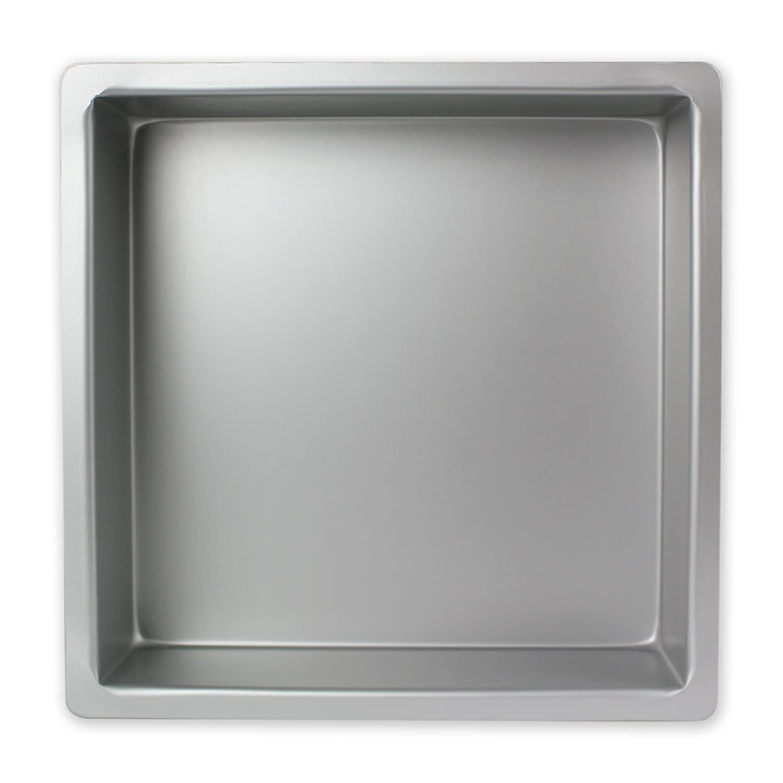 PME Quadratische Kuchenform aus eloxiertem Aluminium, 102 x 102 x 76 mm SQR043