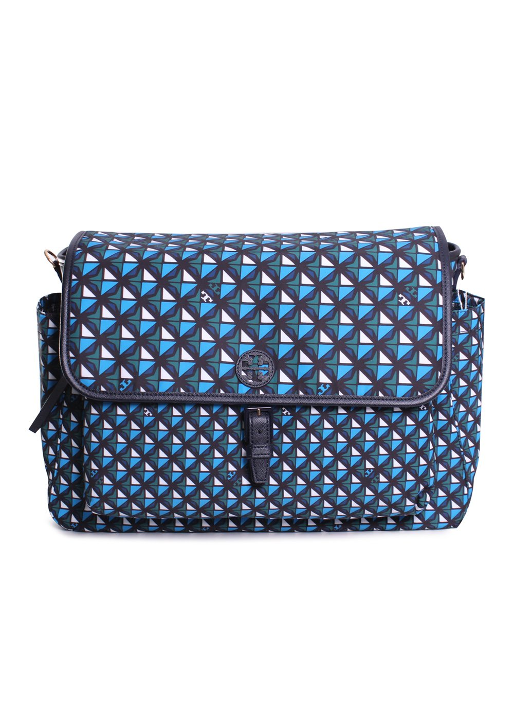 Tory Burch Scout Nylon Printed Messenger Baby Bag in Tory Navy Geo