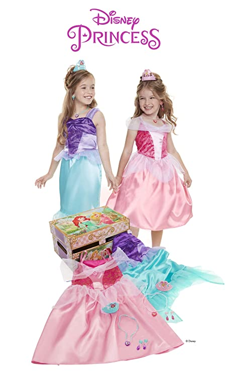 a817a1e474da Image Unavailable. Image not available for. Color: Disney Princess Ariel &  Aurora Dress up Trunk. Roll over image to zoom in