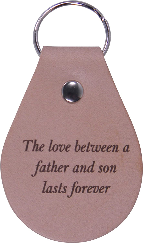 El Amor Entre Un Padre Y hijo dura Forever - Cuero Llavero ...