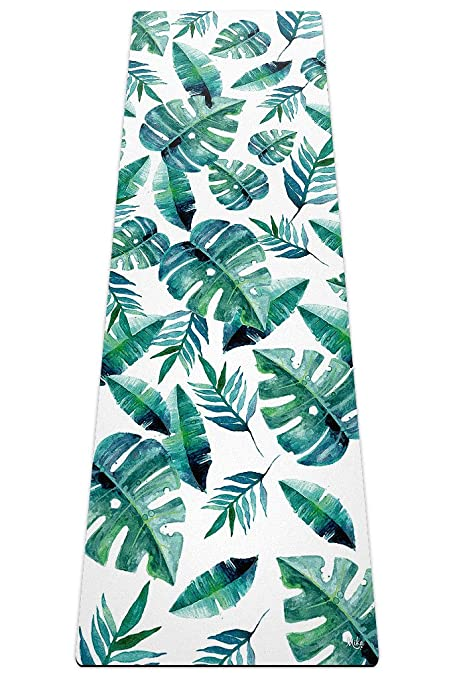 Amazon Com Mika Yoga Wear Banana Leaf Yoga Mat 2 In 1
