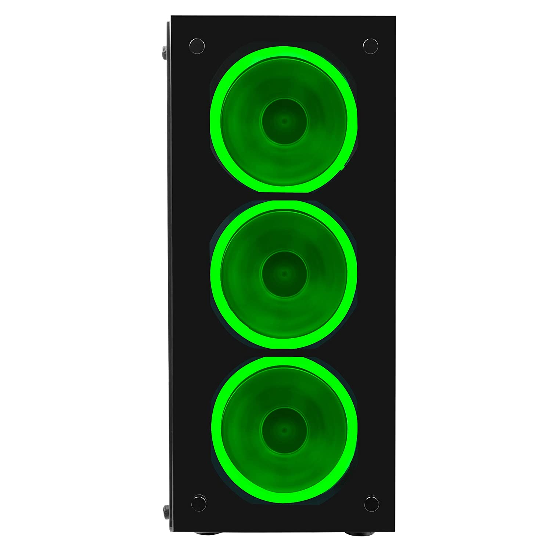 Caja de ordenador gaming semitorre, ventana acr/ílica, ventilador LED rojo ncluido, micro ATX, 7 slots expansi/ón, hasta 8 ventiladores, USB 3.0, audio HD+micr/ófono Mars Gaming MC5