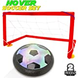 Kids Toys Hover Balls Soccer Goals Set With 2 Gates Nets Air Ball LED Light Football Toy For Boys/Girls Age of 2,3,4,5,6,7,8-16 Years Old,Children Gifts Play Indoor Or Outdoor Sport Game