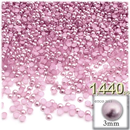 Sequins 4mm Baby Soft Pink Pearl Satin Tiny Round Flat Choose Pack Size