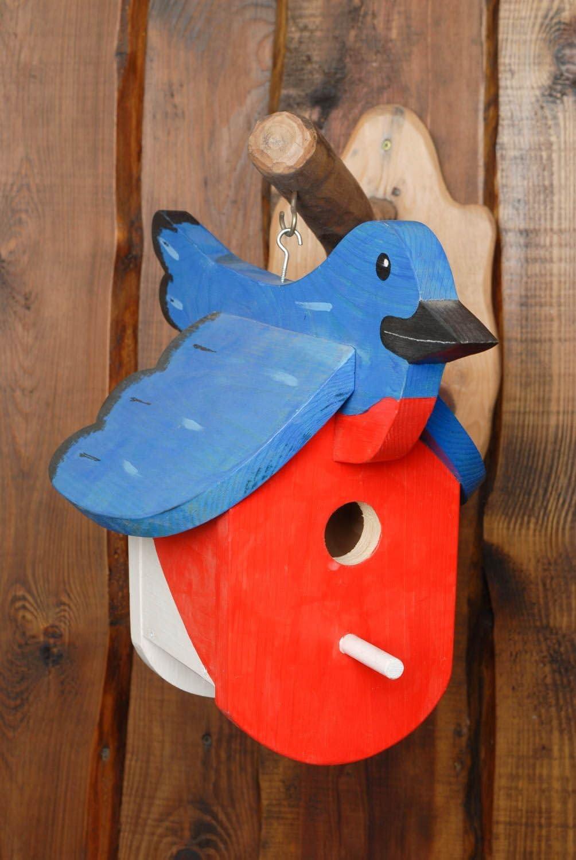 Pintado de madera comedero para pájaros: Amazon.es: Jardín